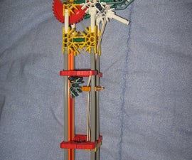 Power/Distance Mod to knex rubberband repeater that uses gears