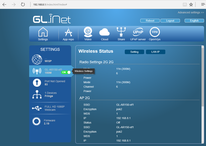 Wireless Router GL-AR150