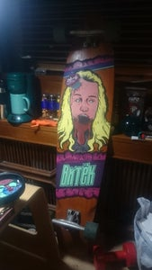 Paint a Zombie Art on Your Longboard