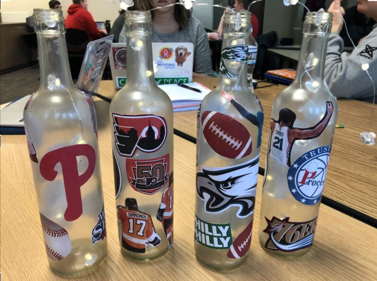 Picture of Sports Team Wine Bottle Display
