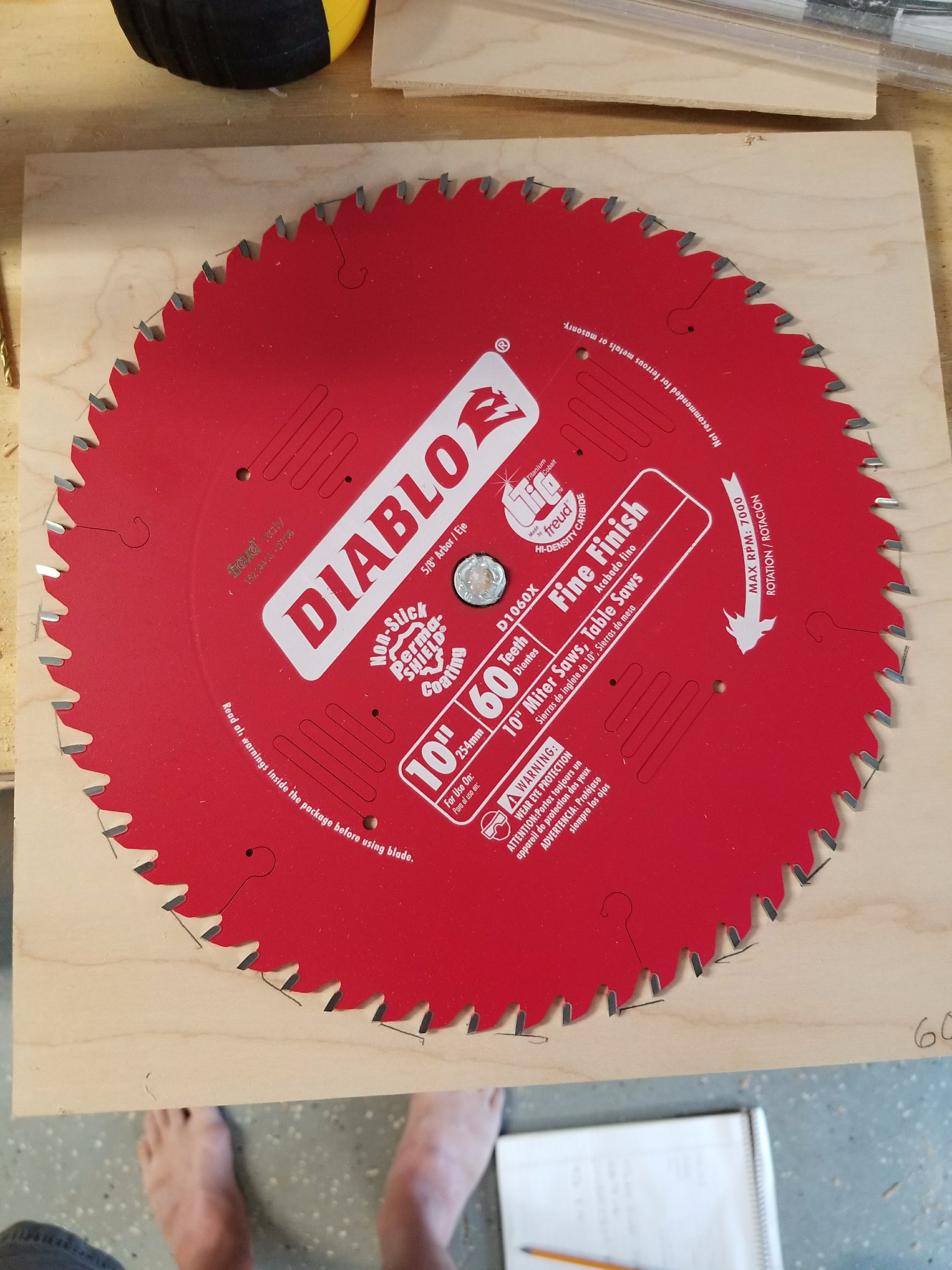 Picture of Table Saw Bench Saw Blade Storage