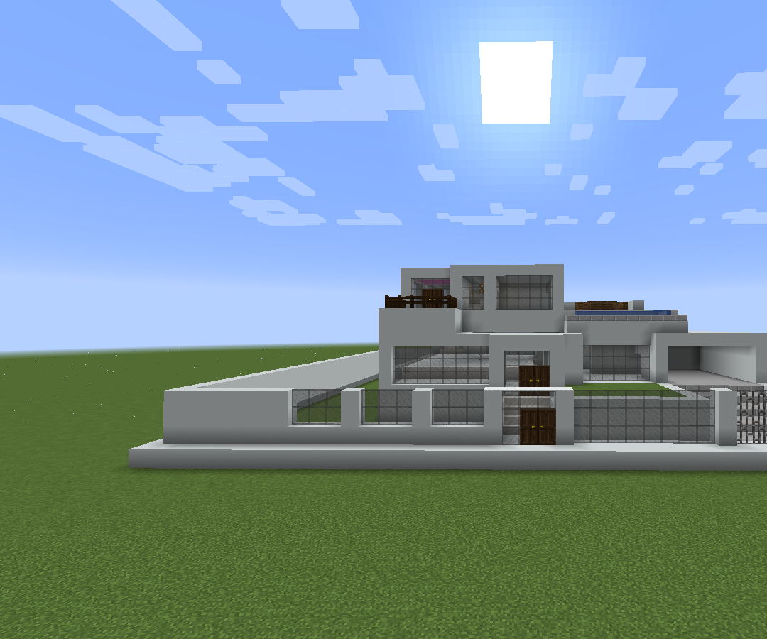 Large Minecraft Modern House: 16 Steps