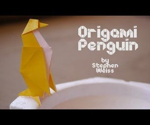 Origami Penguin Designed by Stephen Weiss : Origami Artists