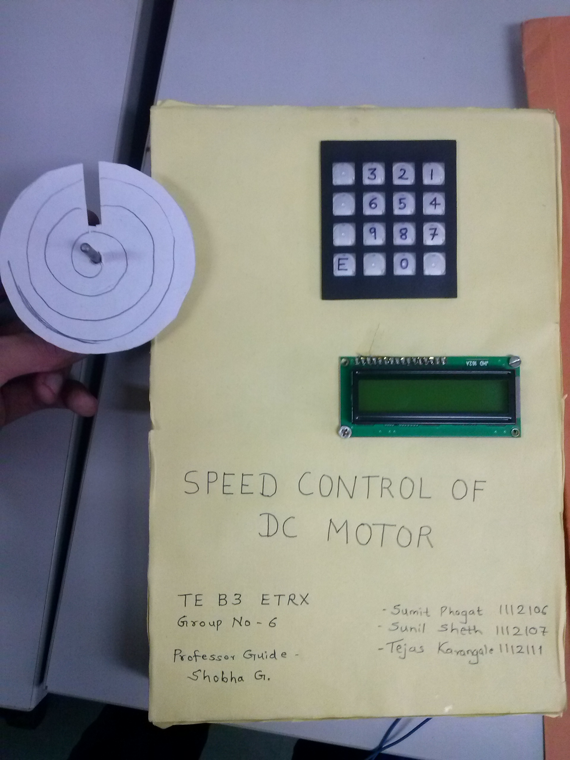 Picture of Speed Control of DC Motor With 8051