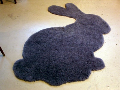 Sew on the Eye and You've Got a Bunny Rug