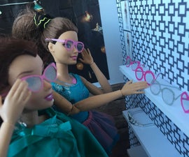 Barbie´s Glasses With Silhouette Cameo / Portrait