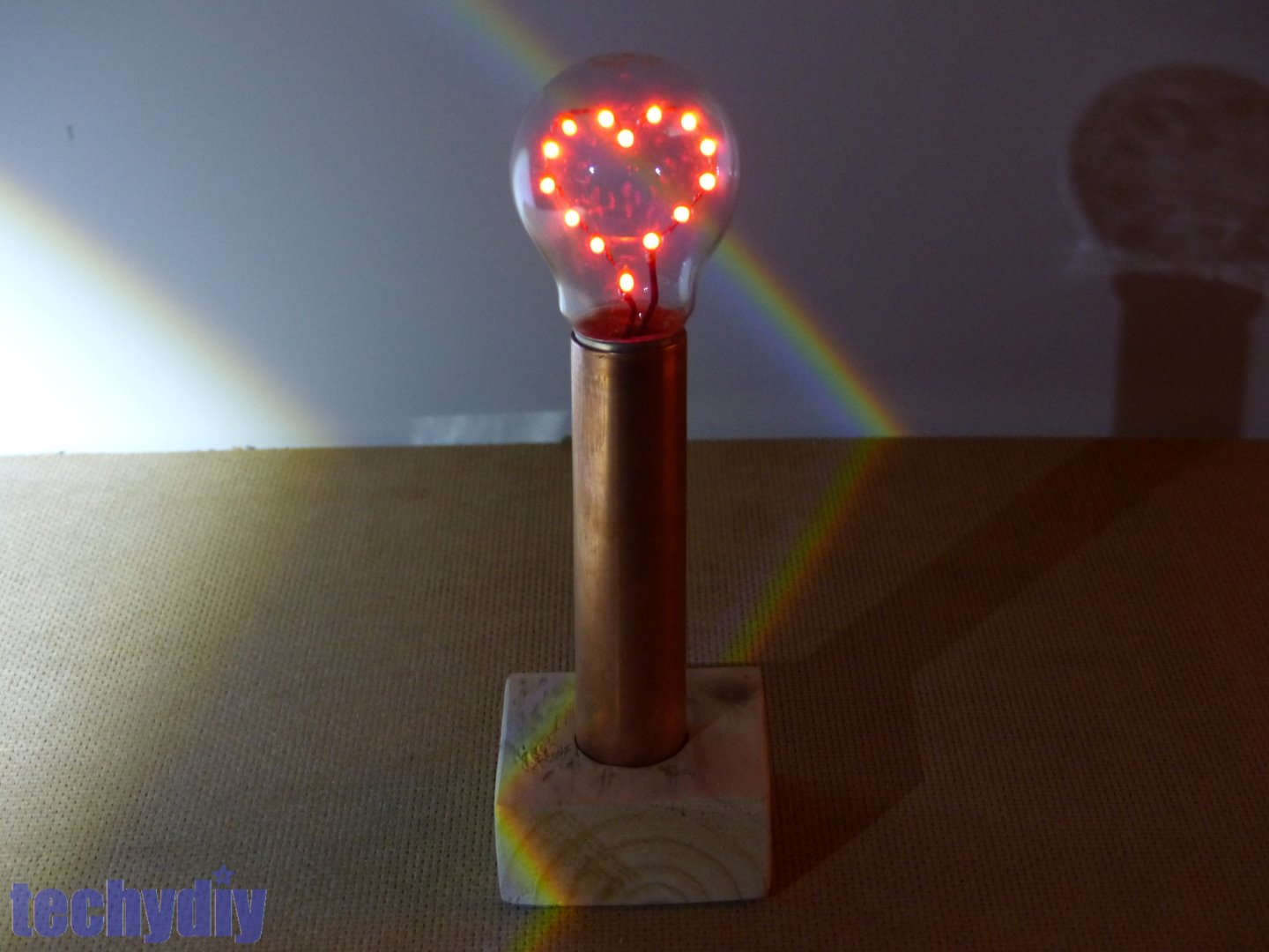 Picture of LED Heart Light Bulb Lamp for Valentine's Day