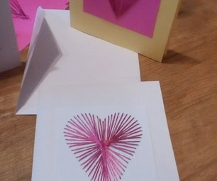 String Art Valentine Cards--and Other Holidays