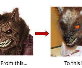 Halloween Project: Add Realism to a Store-Bought Werewolf Mask!