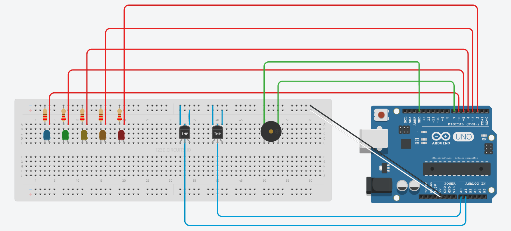 Picture of Setting Up the Circuit: Add Buzzer