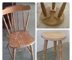 Recycled Chair Leg Stools