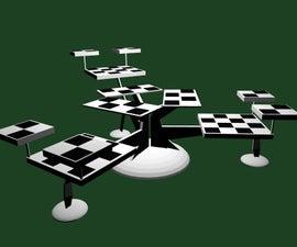 3 Player 3D chess set