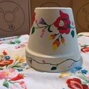 Hand Painted Broidery Pattern on Pot