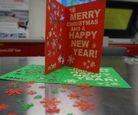 Laser Engraved Christmas Card