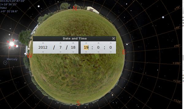 Use Stellarium (software) to Aim Solar Cookers.