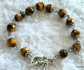 Cat's Eye Bracelet Jewelry Making Tutorial