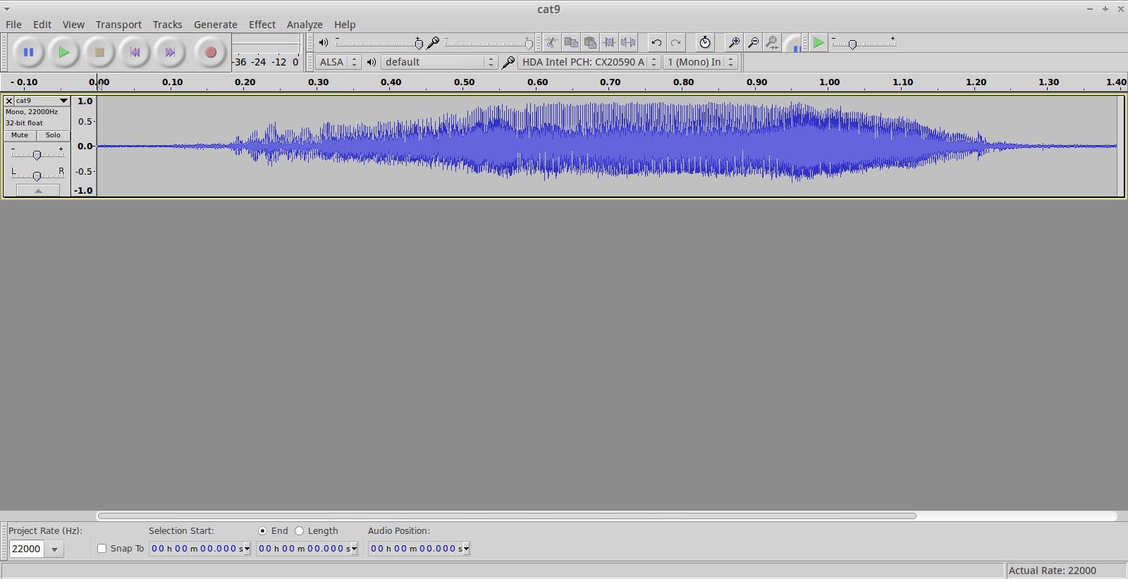 Picture of Preparing the Audio File