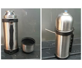 Stainless Steel Flask Turned Into Awesome Sandblaster