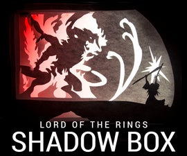 Shadow Box: Gandalf Fighting the Balrog!