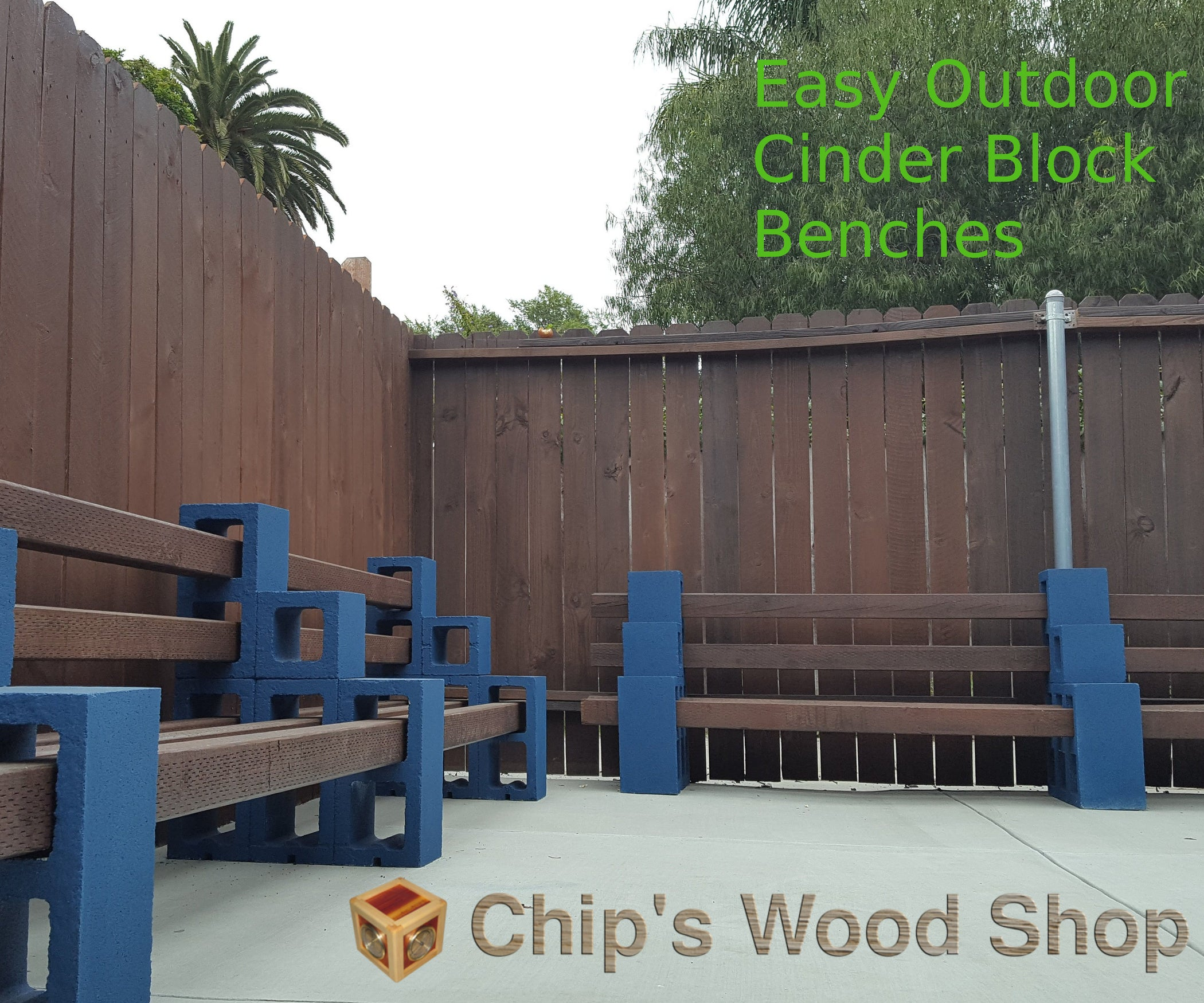 Easy Outdoor Cinder Block Benches 9 Steps With Pictures