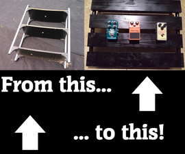 How to Make a Guitar Pedalboard Out of a Metal Shelf