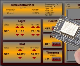 TerraControl - with NodeMCU webserver
