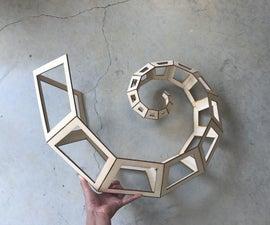 Curling Spiral Kinetic Sculpture