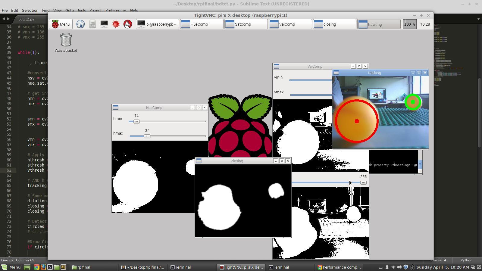 Raspberry Pi Ball Tracking: 4 Steps