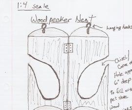 Red-Headed Woodpecker Nesting Box