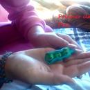 Polymer clay Peas