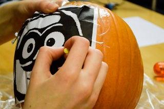 Minion Pumpkin Stencil
