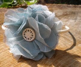 Flouncy Flower Headband How-to