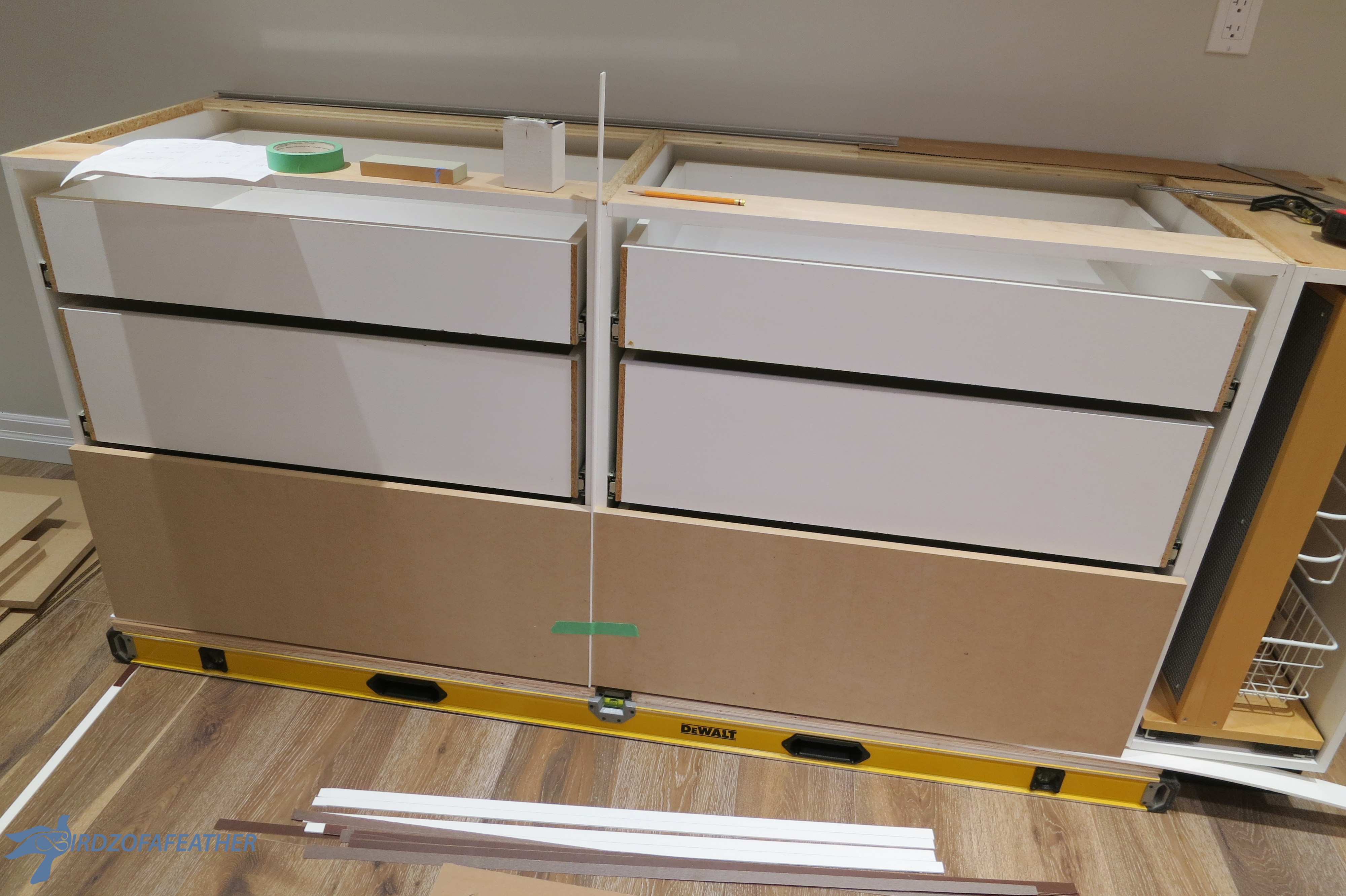 Picture of Install Drawer Fronts (Temporarily)