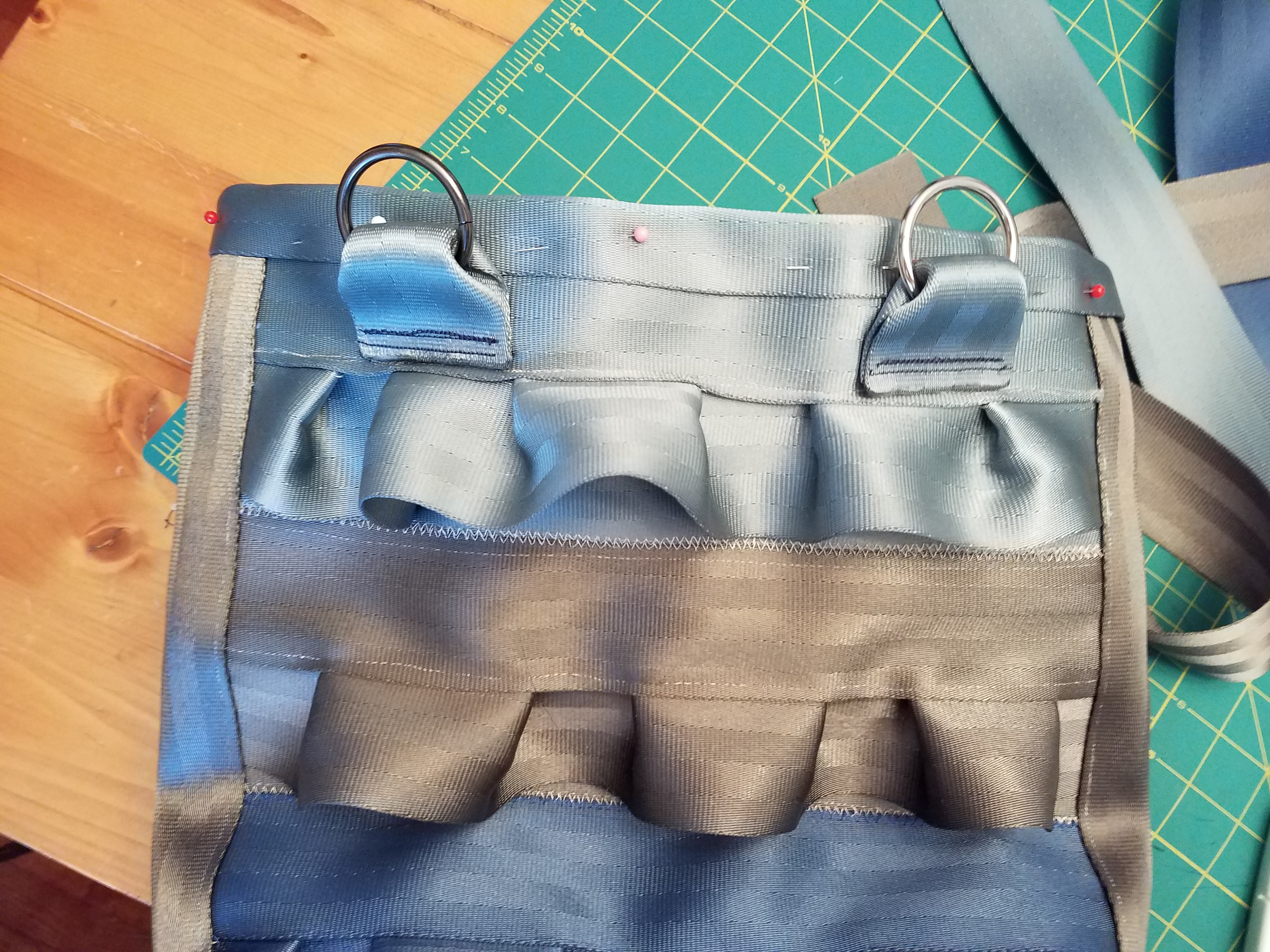 Picture of Sew Lining to Outside Shell With Seatbelt Rim
