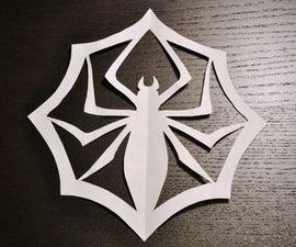 Jack Skellington's Paper Spider Snowflake