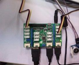 Ultrasonic Sensor on Dragonboard with Mezzanine board [DRAGONBOARD] [QUALCOMM] [HACKATHON]