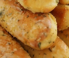 Yummy in your Tummy garlic breadsticks.