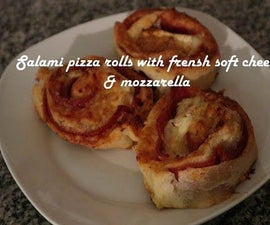 Salami Pizza Rolls With Frensh Soft Cheese & Mozzarella Recipe