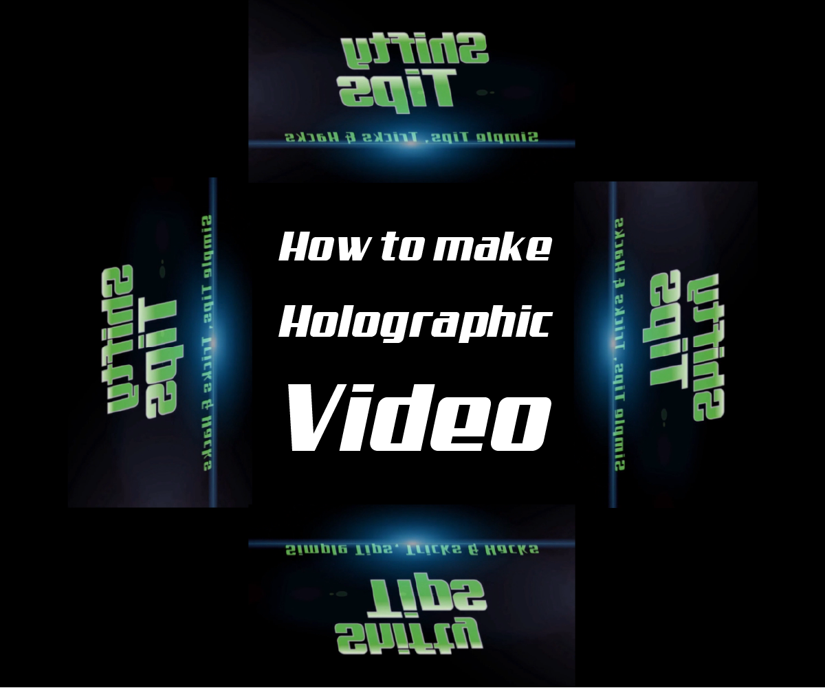 How To Make A Hologram Video For Diy 3d Hologram Projector: 5 Steps (with  Embed And Trim A Youtube Video Into Powerpoint