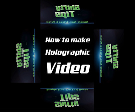 How to make a hologram video for DIY 3D Hologram Projector