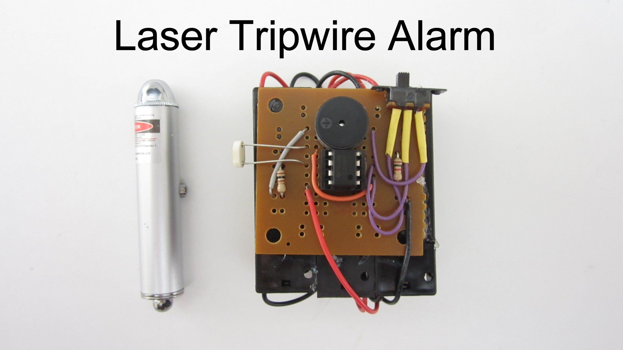 Wiring Of The Laser Diode These Are Clearly Identified In Each Tripwire Alarm 9 Steps With Pictures