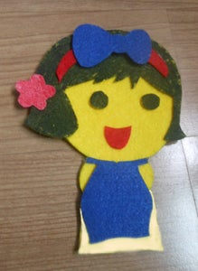 Glue the Aodai Like the Picture.