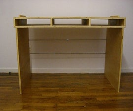 Pack Flat Plywood Desk