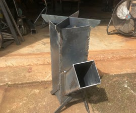 Build a Rocket Stove! a Welding Practice Project.