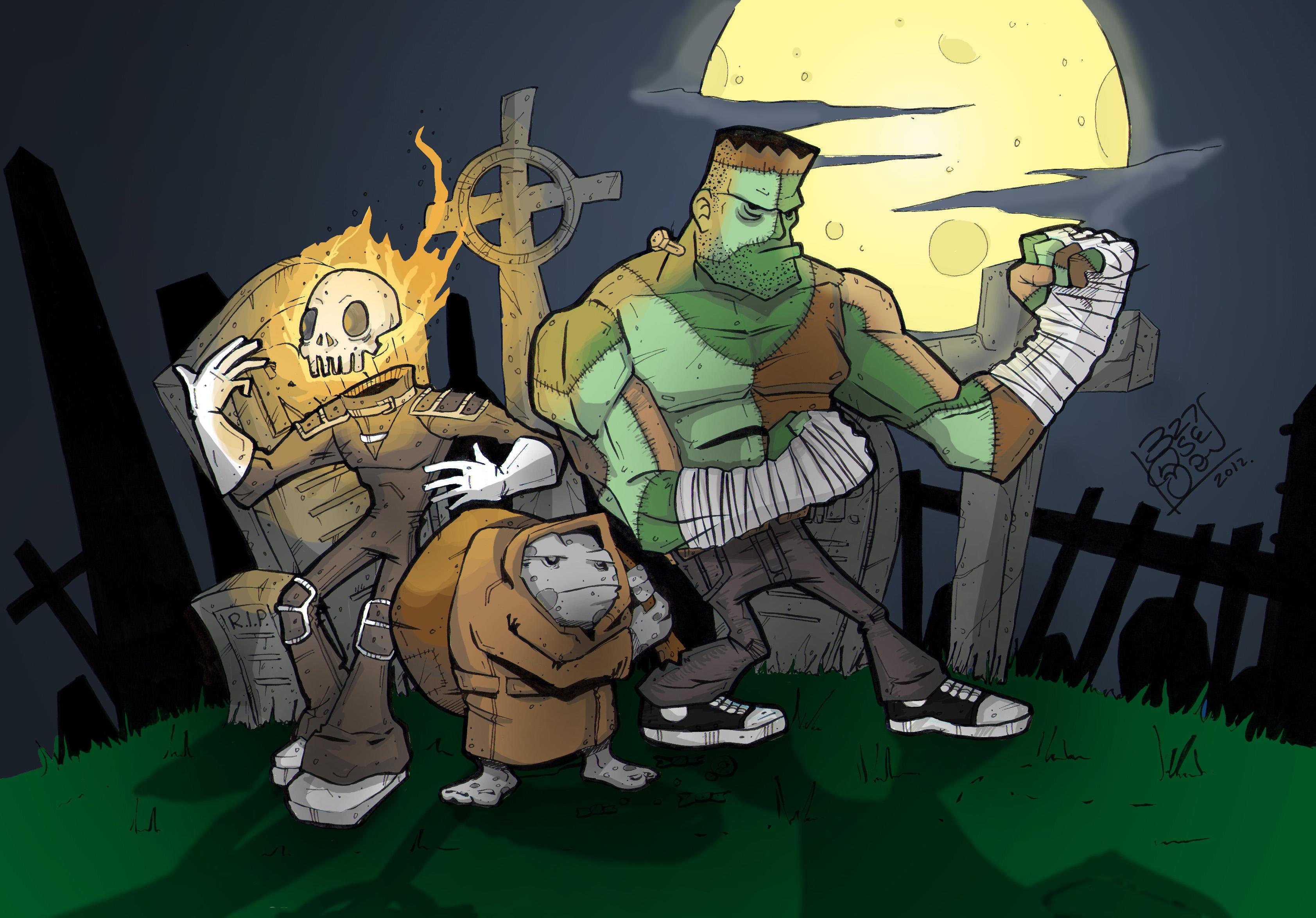Picture of Halloween Graveyard Monsters