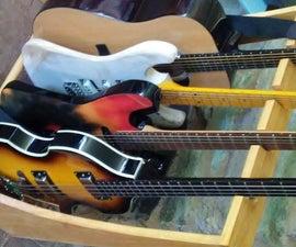 Simple Wooden Guitar Rack