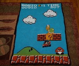 Super Mario Screenshot Afghan