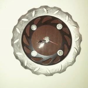 Motorbike Brake Disc Clock