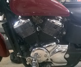 Polishing Motorcycle Fins