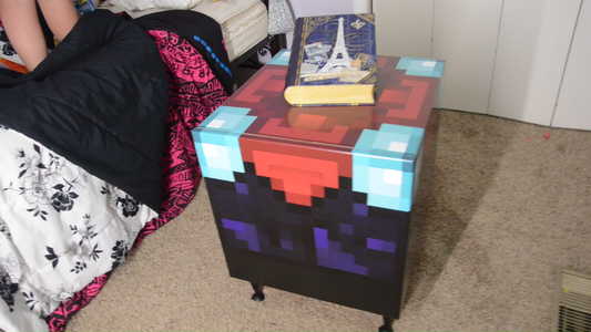 Put the Minecraft Enchantment Storage Box in Your Favorite Room